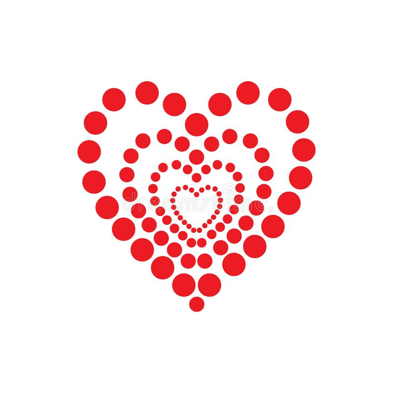 A lot of hearts in dot pattern. Abstract icon design representing love and Valentines Day. stock photo