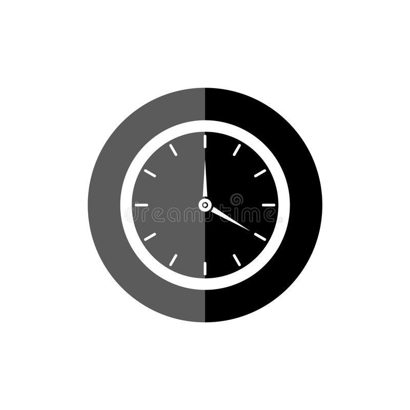 Simple clock face, clockface or watch face, Clock icon or logo. On white background vector illustration
