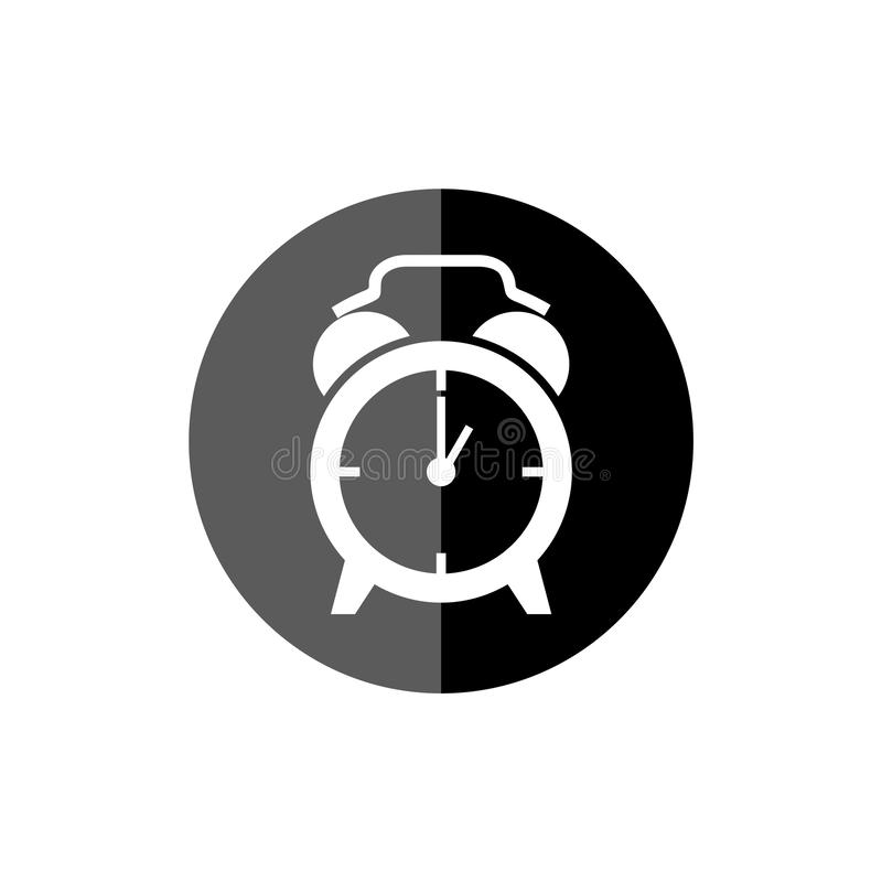 Simple clock face, clockface or watch face, Clock icon or logo. On white background royalty free illustration