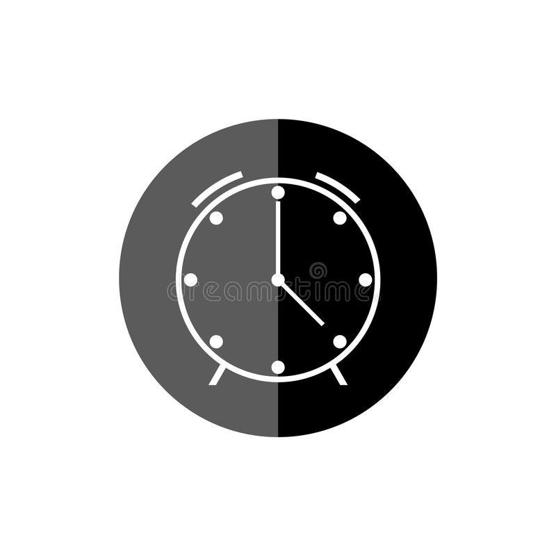 Simple clock face, clockface or watch face, Clock icon or logo. On white background stock illustration