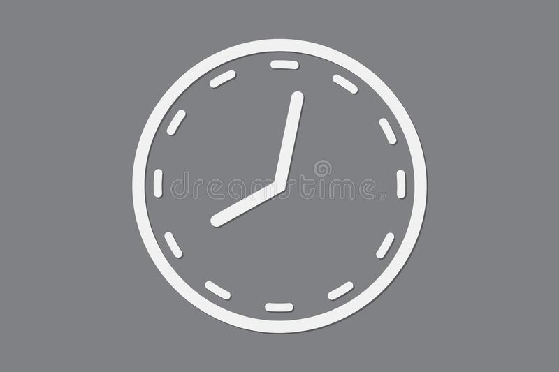 Simple clock icon with circular shape on black background vector for time management vector illustration