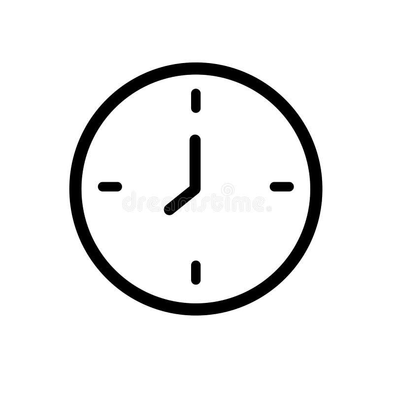 Simple clock icon stock illustration