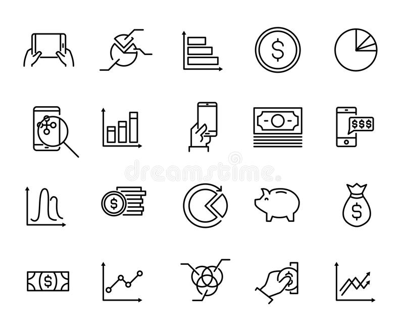 download simple collection of personal budget related line icons stock vector illustration of loan