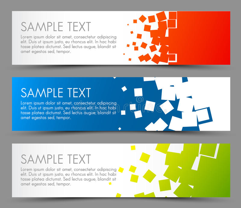 Simple Colorful Horizontal Banners Stock Image