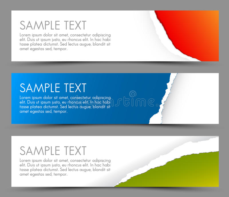 Download Simple Colorful Horizontal Banners Stock Illustration - Illustration: 26907081