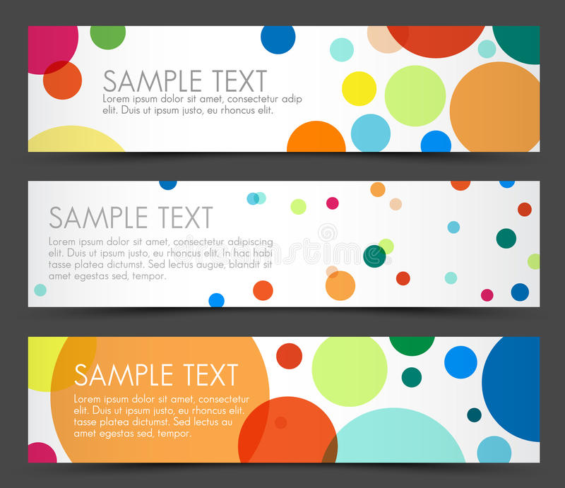 Simple colorful horizontal banners royalty free illustration