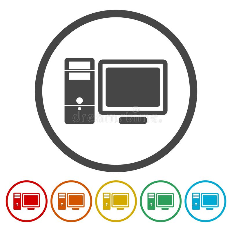 Simple Computer icon royalty free illustration