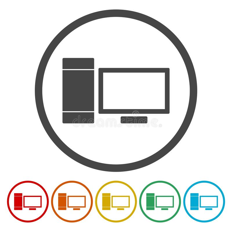 Simple Computer icon vector illustration