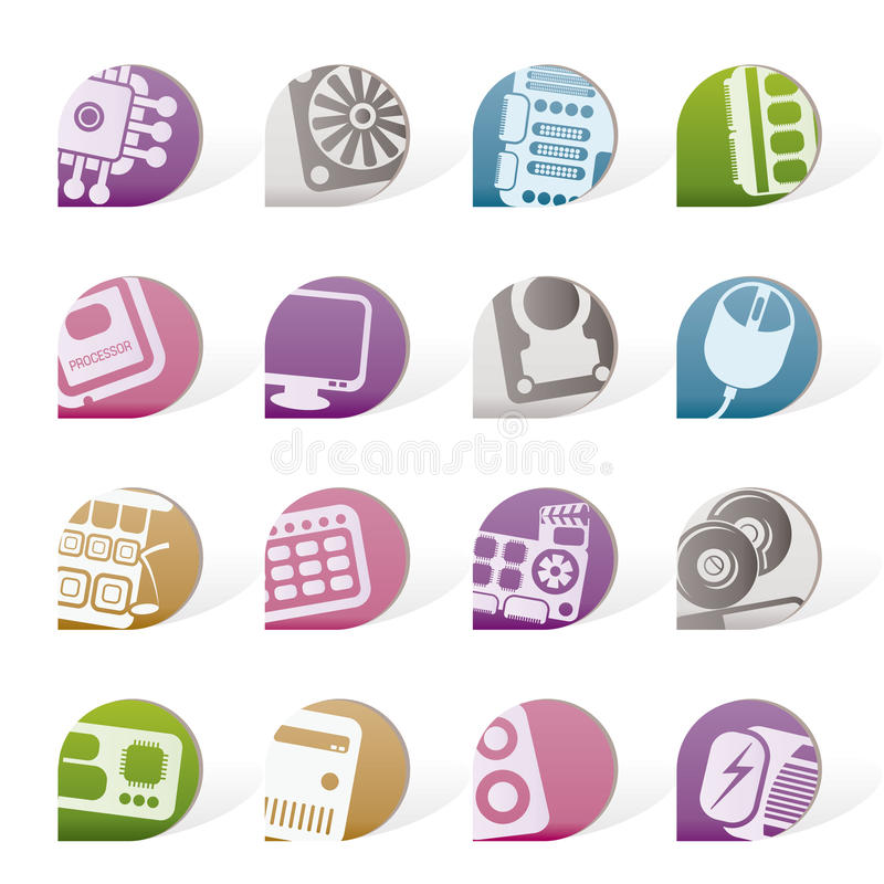 Download Simple Computer  Performance And Equipment Parts Stock Vector - Illustration: 18362440