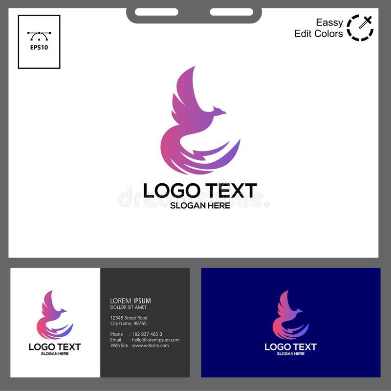 The simple concept of phonic logo. Phonic logo for technology industry can used in web, social media,flayer,etc stock illustration