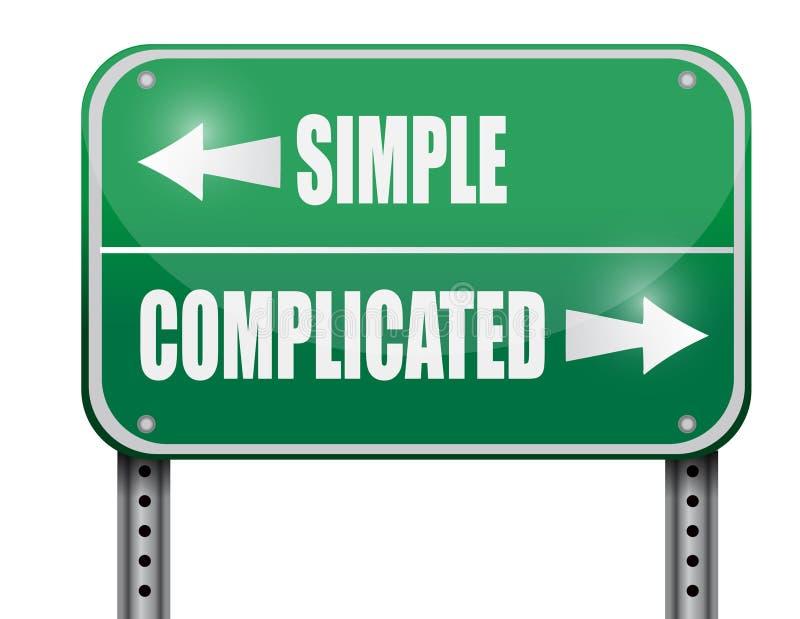 simple contra el ejemplo complicado de la señal de tráfico imagen de archivo