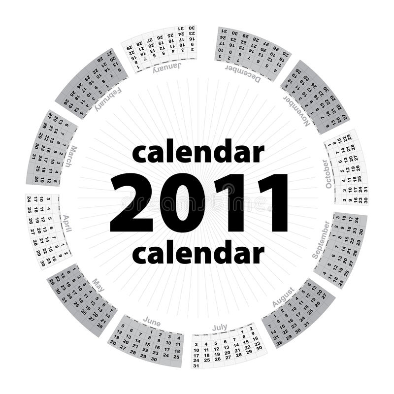 Free Simple Creative Calendar Of 2011 Royalty Free Stock Photos - 15723118