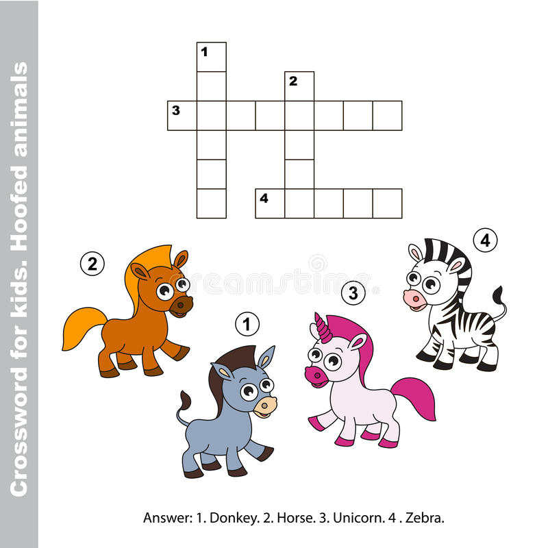 Download The Simple Crossword For Kids Stock Vector