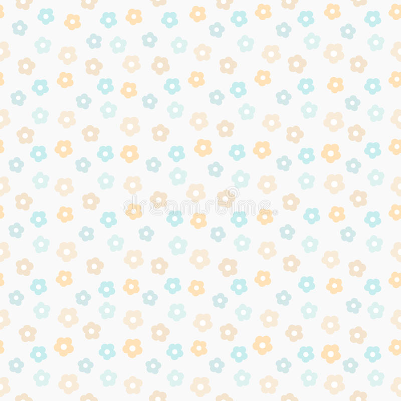 simple cute pastel pattern floral mint seamless kids