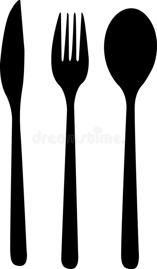 Simple cutlery drawn in . vector illustration