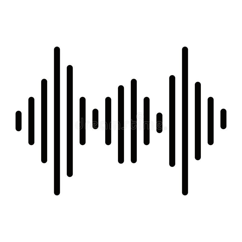 Simple de vecteur d'ic?ne d'onde sonore d'isolement sur le fond blanc illustration stock
