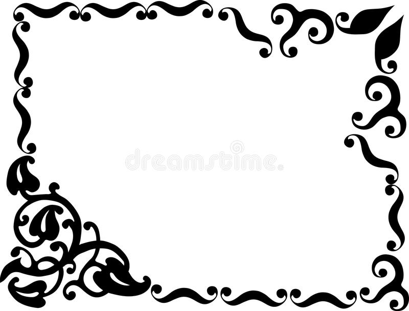 Simple design with black frame vector illustration