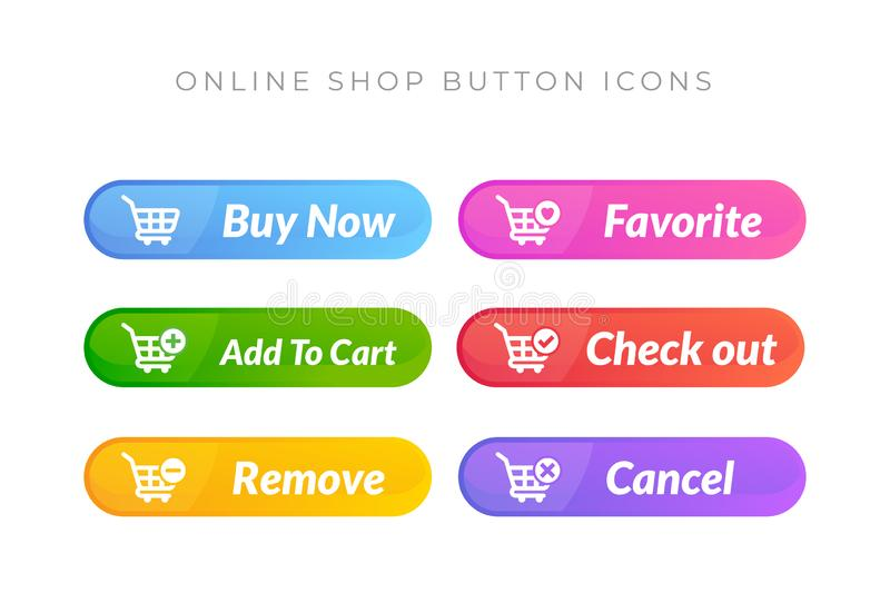 Simple design of buy now button. online shop icon material design. Action, add, apps, banner, basket, business, cart, checkout, click, computer, concept vector illustration