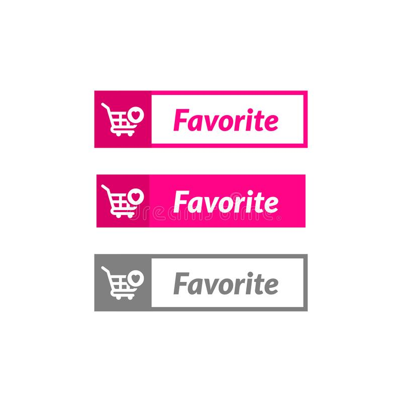 Simple design of favorite item button. online shop icon material. Design, action, add, apps, banner, basket, business, buy, cart, checkout, click, computer royalty free illustration