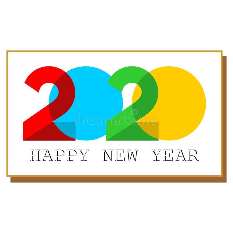 Simple design logo happy new year 2020 stock photos