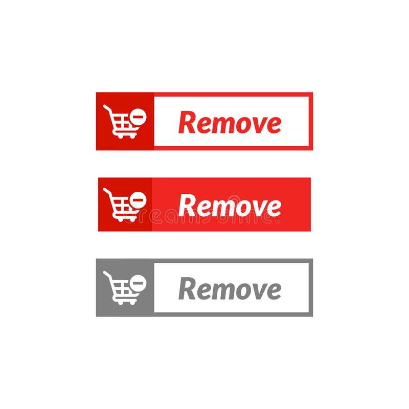 Simple design of remove item button. online shop icon material. Design, action, add, apps, banner, basket, business, buy, cart, checkout, click, computer vector illustration