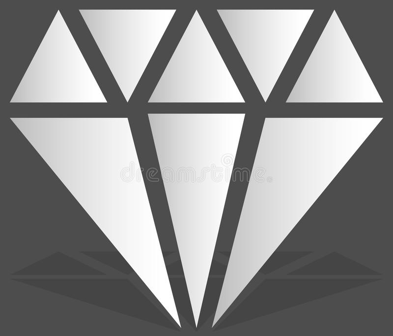 Simple diamond, jewelry sign, symbol. Precious stone, ruby icon, illustration. Expensive jewel, jewel, bijou concepts. Royalty free vector illustration stock illustration