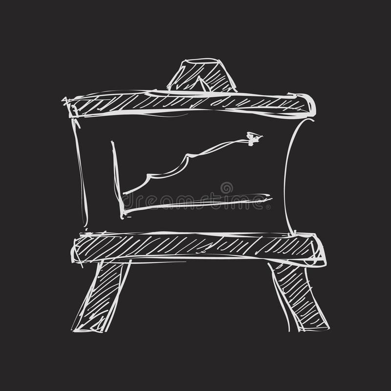 Simple doodle of a blackboard. Simple hand drawn doodle of a blackboard vector illustration