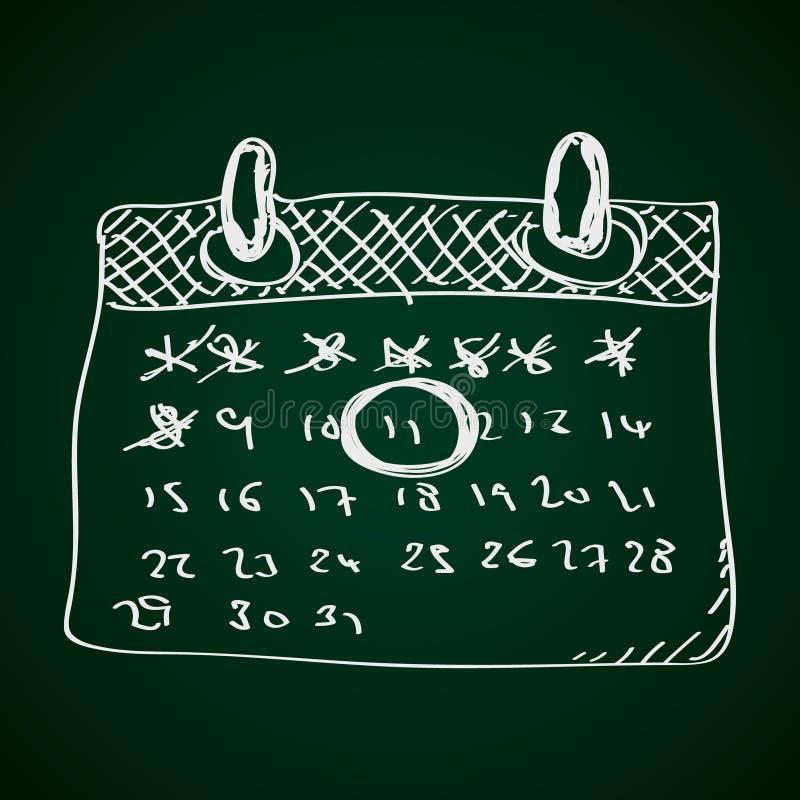 Simple doodle of a calendar stock illustration