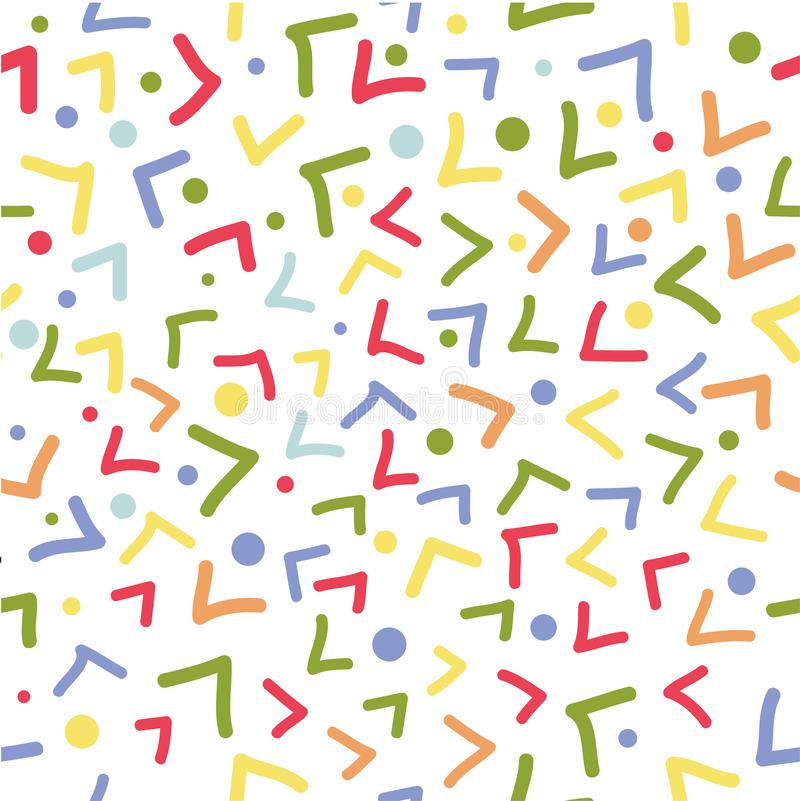 Simple Doodle Vector Seamless Pattern Half Square and dot for background, banner wrapping paper etc vector illustration