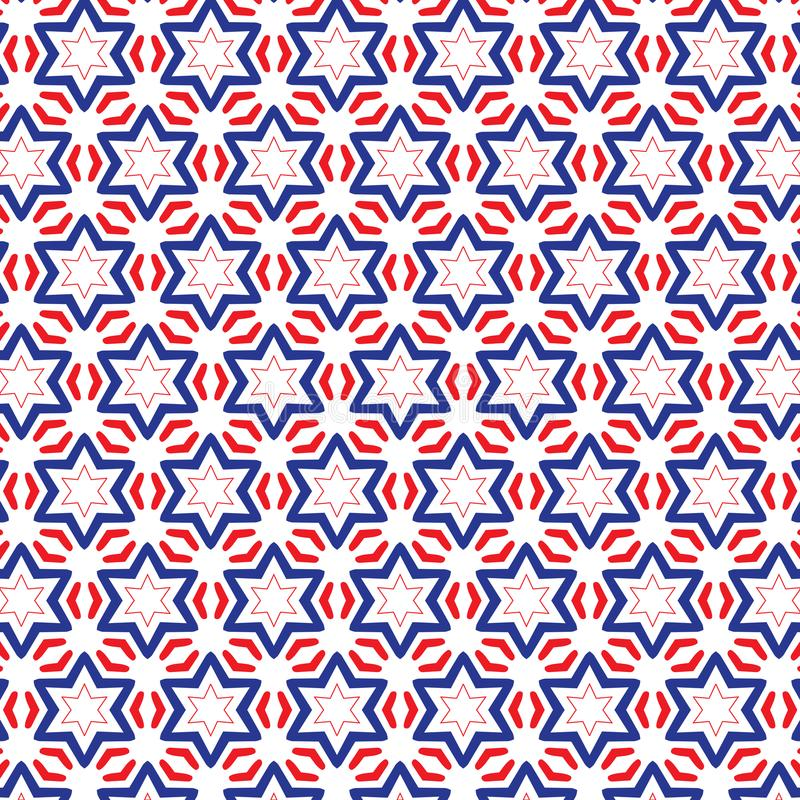 Download Simple Draw Illustration Red And Blue Stars Pattern Fabric Background Stock Vector
