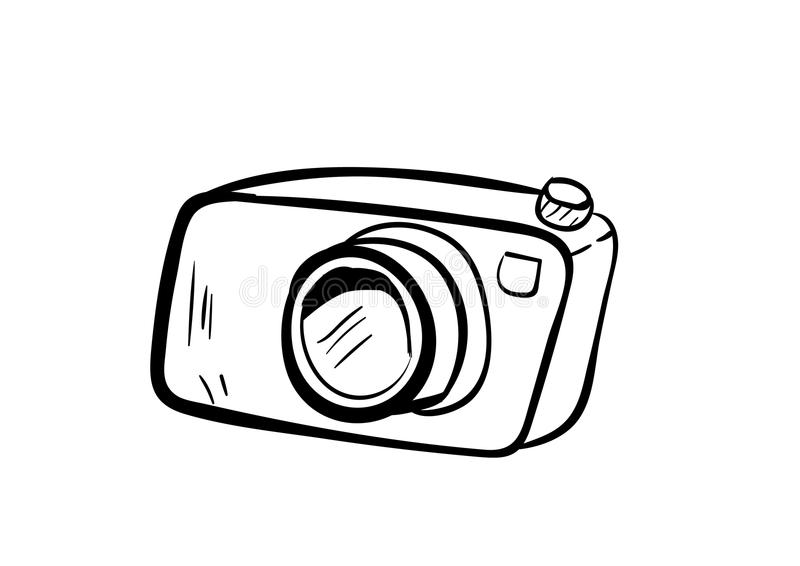 Download Camera Icon Vector With Doodle Style Stock