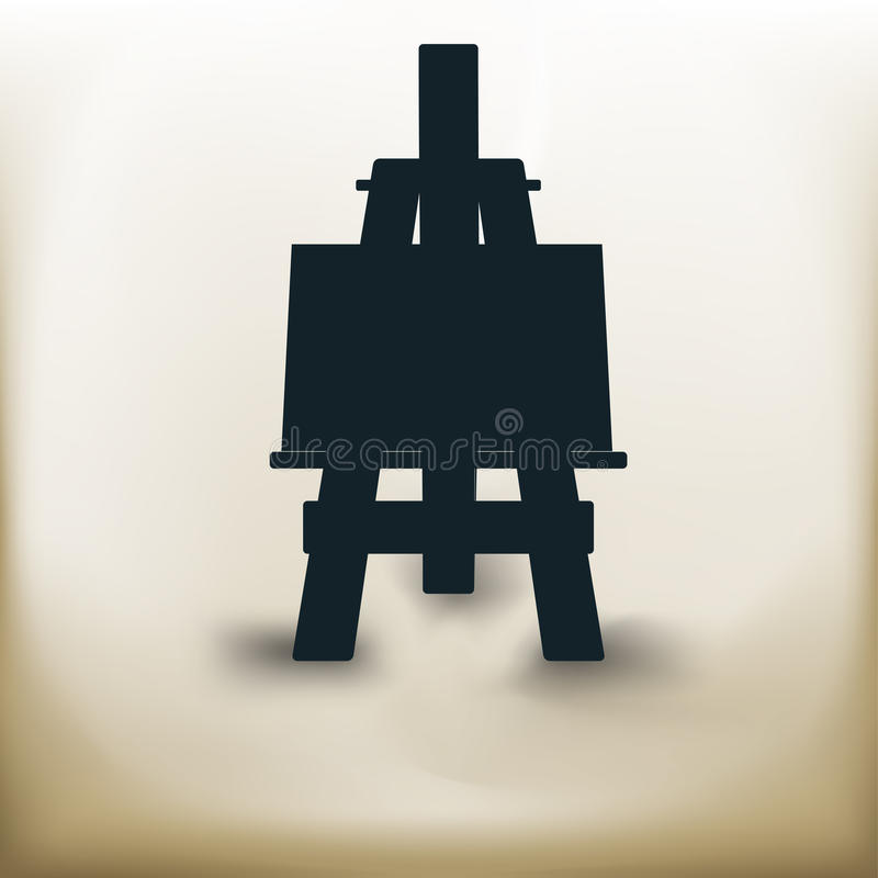 Simple easel stock illustration