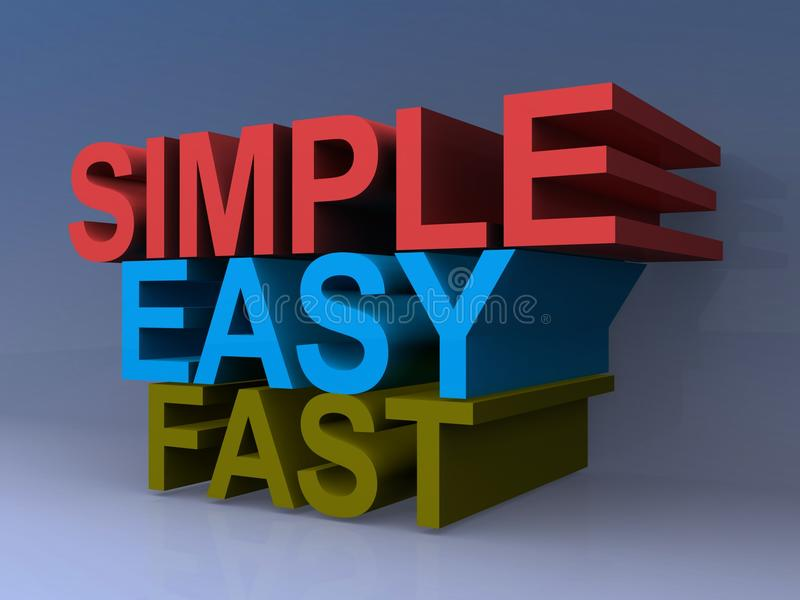 Simple, easy, fast graphics stock illustration