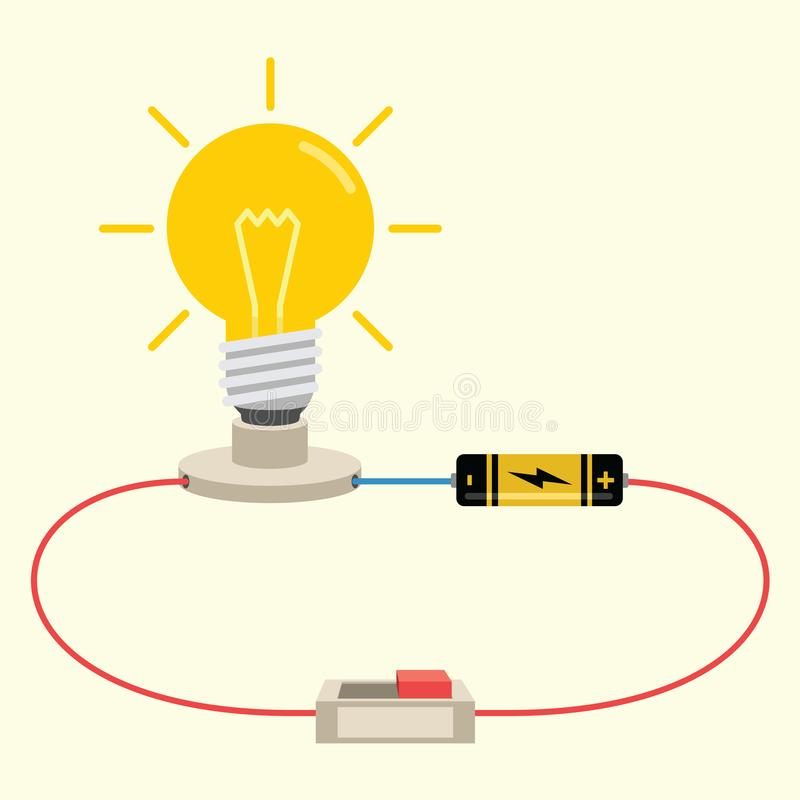 simple electricity circuit vector illustration stock vector rh dreamstime com electrical circuit breakers electrical circuit tracer