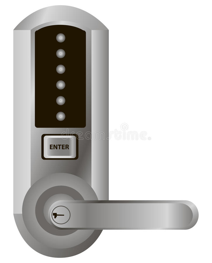 Simple Electronic Lock Stock Vector  Illustration Of