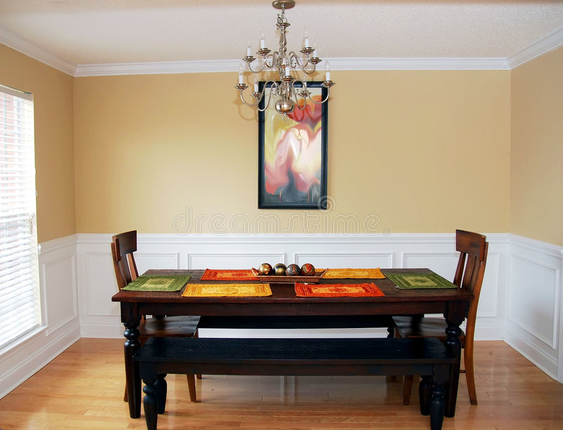 Download Simple Elegant Dining Room stock image. Image of apartment - 4458357