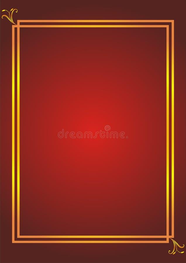 Simple elegant frame royalty free illustration