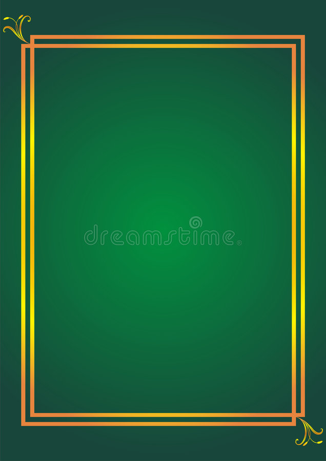 Download Simple Elegant Frame On Green Stock Vector - Image: 8758070