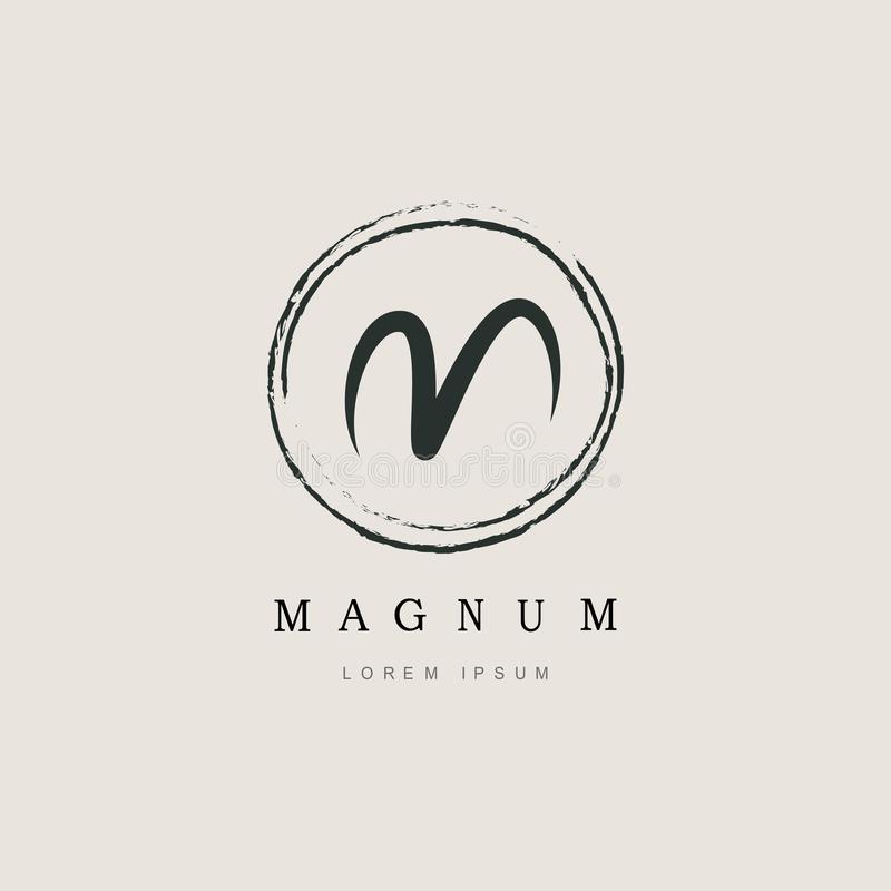 Simple Elegant Initial Letter Type M Logo stock illustration