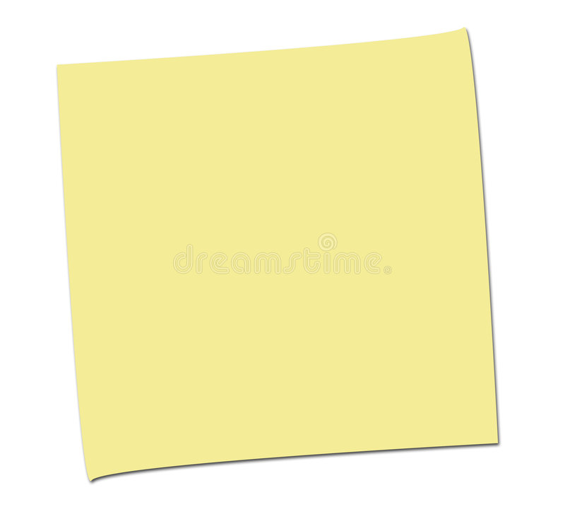 SIMPLE EMPTY POST IT NOTE royalty free stock photos