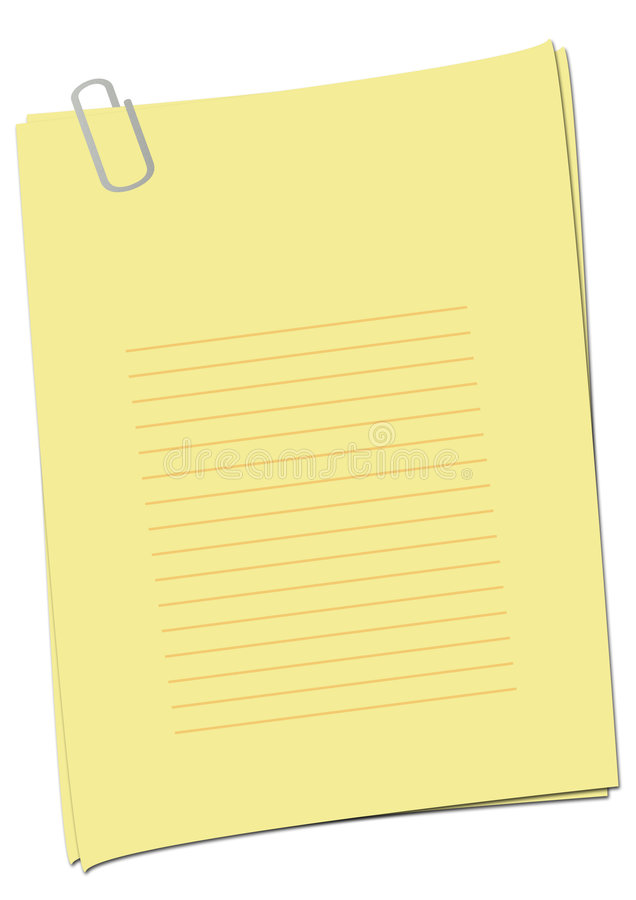 Simple Empty Yellow Page stock photography