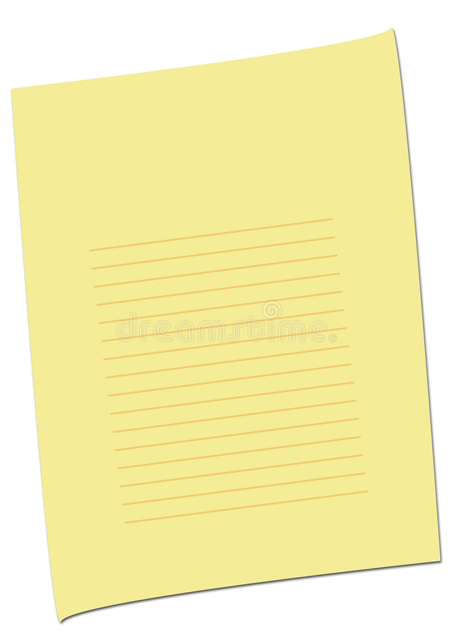 Simple Empty Yellow Page royalty free stock photo