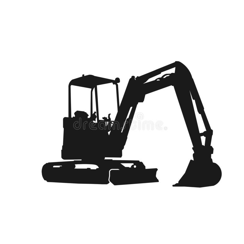 Excavator Silhouette Design Stock Vector Illustration Of Business Excavate 148921079