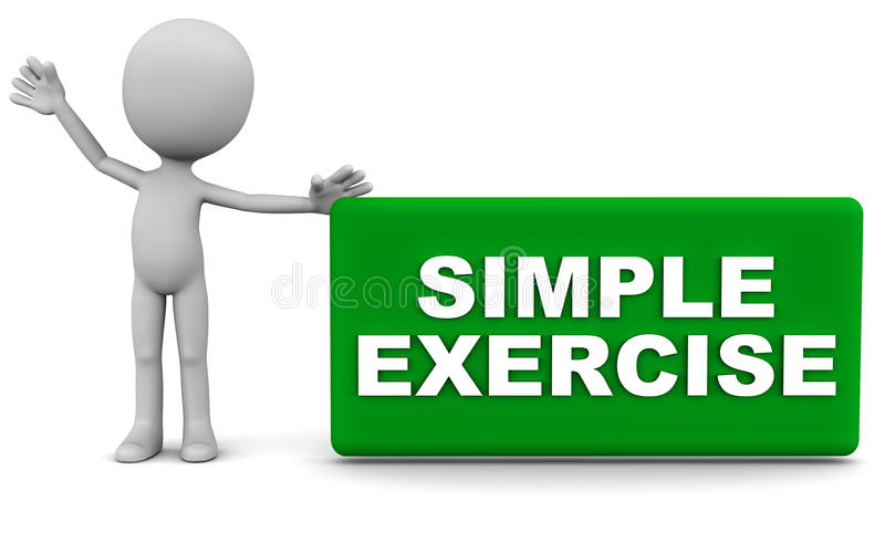 Simple exercise. Word concept of easy training and learning royalty free illustration