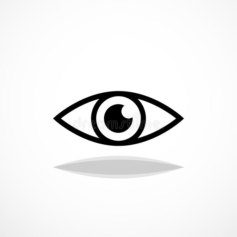 Simple eye icon. Human pupil silhouette illustration royalty free illustration