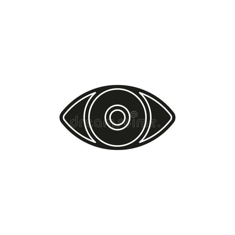 Simple Eye Vector Icon vector illustration
