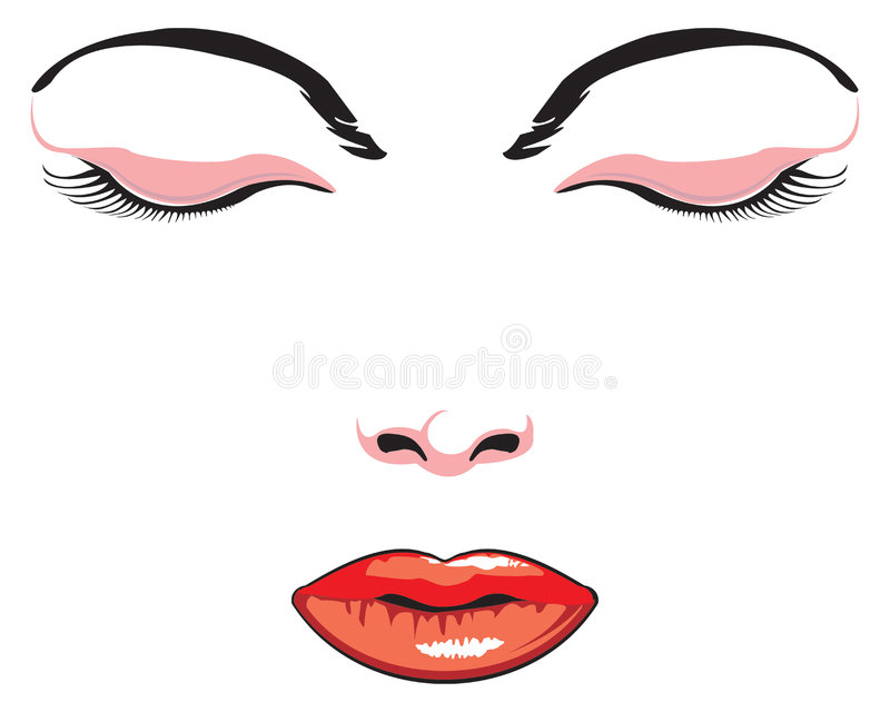 Download Simple face stock vector. Illustration of lips, pattern - 3822496