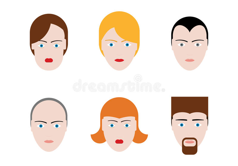Simple Faces vector illustration