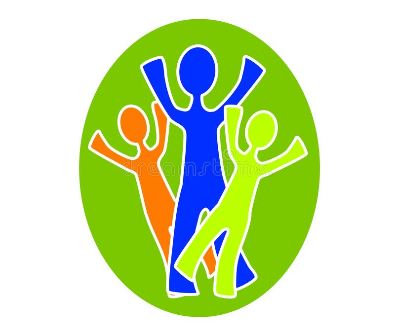 Simple Family Group Clip Art 3 stock image