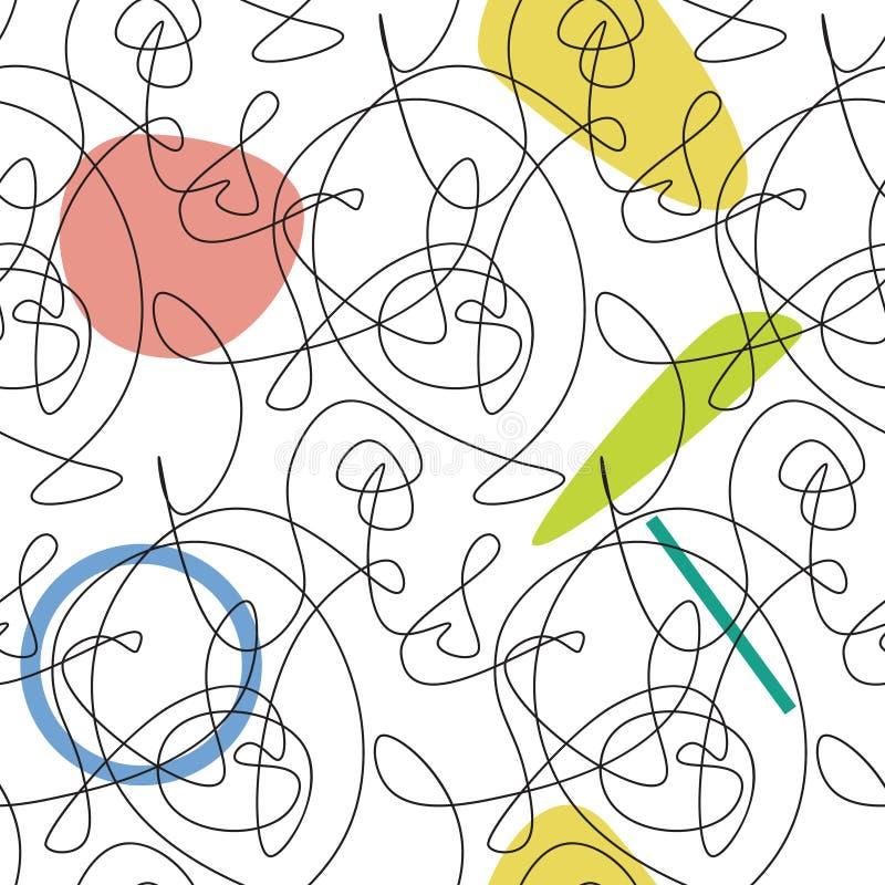 Simple fashion line seamless pattern royalty free illustration
